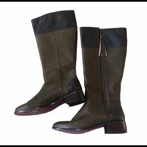 Twiggy London brown leather boots size 7